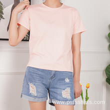 Summer Short Shirts with Round Neck